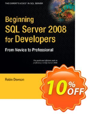 Beginning SQL Server 2008 for Developers (Dewson) 프로모션 코드 Beginning SQL Server 2008 for Developers (Dewson) Deal 프로모션: Beginning SQL Server 2008 for Developers (Dewson) Exclusive Easter Sale offer for iVoicesoft