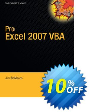 Pro Excel 2007 VBA (DeMarco) Coupon discount Pro Excel 2007 VBA (DeMarco) Deal. Promotion: Pro Excel 2007 VBA (DeMarco) Exclusive Easter Sale offer for iVoicesoft