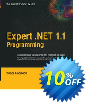 Expert .NET 1.1 Programming (Robinson) discount coupon Expert .NET 1.1 Programming (Robinson) Deal - Expert .NET 1.1 Programming (Robinson) Exclusive Easter Sale offer for iVoicesoft