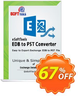 eSoftTools EDB to PST Converter - Technician License Coupon, discount Coupon code eSoftTools EDB to PST Converter - Technician License. Promotion: eSoftTools EDB to PST Converter - Technician License offer from eSoftTools Software