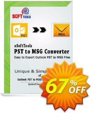 eSoftTools PST to MSG Converter - Corporate License Coupon, discount Coupon code eSoftTools PST to MSG Converter - Corporate License. Promotion: eSoftTools PST to MSG Converter - Corporate License offer from eSoftTools Software