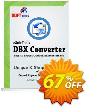 eSoftTools DBX Converter - Technician License Coupon, discount Coupon code eSoftTools DBX Converter - Technician License. Promotion: eSoftTools DBX Converter - Technician License offer from eSoftTools Software