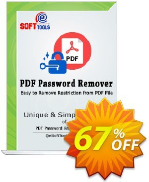 eSoftTools PDF Password Remover - Technician License Coupon, discount Coupon code eSoftTools PDF Password Remover - Technician License. Promotion: eSoftTools PDF Password Remover - Technician License offer from eSoftTools Software