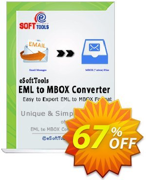 eSoftTools EML to MBOX Converter - Corporate License Coupon, discount Coupon code eSoftTools EML to MBOX Converter - Corporate License. Promotion: eSoftTools EML to MBOX Converter - Corporate License offer from eSoftTools Software