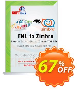 eSoftTools EML to Zimbra Converter - Enterprise License Coupon, discount Coupon code eSoftTools EML to Zimbra Converter - Enterprise License. Promotion: eSoftTools EML to Zimbra Converter - Enterprise License offer from eSoftTools Software