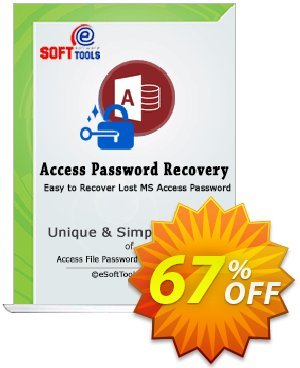 eSoftTools Access Password Recovery - Corporate License Coupon, discount Coupon code eSoftTools Access Password Recovery - Corporate License. Promotion: eSoftTools Access Password Recovery - Corporate License offer from eSoftTools Software
