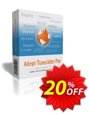 Adept Translator Pro 優惠券,折扣碼 Adept Translator Pro Amazing deals code 2020,促銷代碼: Amazing deals code of Adept Translator Pro 2020