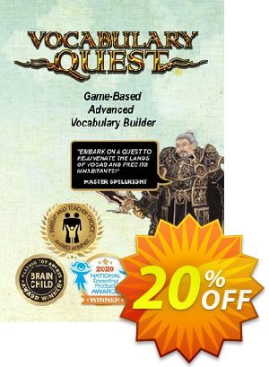 Vocabulary Quest Coupon discount Vocabulary Quest 20% OFF. Promotion: Hottest promo code of Vocabulary Quest 2020