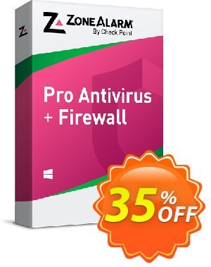 ZoneAlarm Pro Antivirus + Firewall (3 PCs License) 優惠券,折扣碼 35% OFF ZoneAlarm Pro Antivirus + Firewall (3 Devices License), verified,促銷代碼: Amazing offer code of ZoneAlarm Pro Antivirus + Firewall (3 Devices License), tested & approved