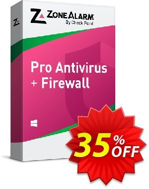 ZoneAlarm Pro Antivirus + Firewall (5 PCs License) discount coupon 35% OFF ZoneAlarm Pro Antivirus + Firewall (5 PCs License), verified - Amazing offer code of ZoneAlarm Pro Antivirus + Firewall (5 PCs License), tested & approved