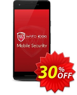Watchdog Mobile Security discount coupon 30% OFF Watchdog Mobile Security, verified - Awesome offer code of Watchdog Mobile Security, tested & approved