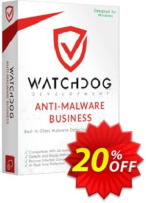 Watchdog Anti-Malware Business Coupon, discount Watchdog Anti-Malware Business Fearsome promotions code 2021. Promotion: Fearsome promotions code of Watchdog Anti-Malware Business 2021