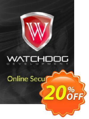 Watchdog Online Security Pro Coupon discount Watchdog Online Security Pro Wondrous deals code 2020. Promotion: Wondrous deals code of Watchdog Online Security Pro 2020
