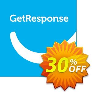 GetResponse discount coupon 30% OFF GetResponse, verified - Super sales code of GetResponse, tested & approved