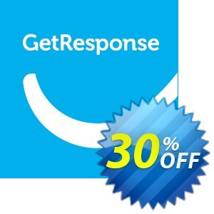 GetResponse PROFESSIONAL discount coupon 30% OFF GetResponse, verified - Super sales code of GetResponse, tested & approved