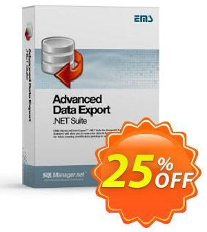 EMS Advanced Data Export .NET Component Suite (without sources) Coupon, discount Coupon code Advanced Data Export .NET Component Suite (without sources). Promotion: Advanced Data Export .NET Component Suite (without sources) Exclusive offer for iVoicesoft