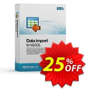 EMS Data Import for MySQL (Business) + 1 Year Maintenance Coupon, discount Coupon code EMS Data Import for MySQL (Business) + 1 Year Maintenance. Promotion: EMS Data Import for MySQL (Business) + 1 Year Maintenance Exclusive offer for iVoicesoft