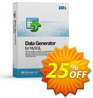 EMS Data Generator for MySQL (Business) + 1 Year Maintenance Coupon, discount Coupon code EMS Data Generator for MySQL (Business) + 1 Year Maintenance. Promotion: EMS Data Generator for MySQL (Business) + 1 Year Maintenance Exclusive offer for iVoicesoft