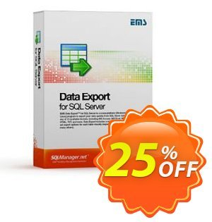 EMS Data Export for SQL Server (Business) + 1 Year Maintenance Coupon, discount Coupon code EMS Data Export for SQL Server (Business) + 1 Year Maintenance. Promotion: EMS Data Export for SQL Server (Business) + 1 Year Maintenance Exclusive offer for iVoicesoft