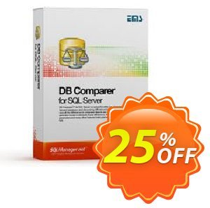 EMS DB Comparer for SQL Server (Business) + 1 Year Maintenance Coupon, discount Coupon code EMS DB Comparer for SQL Server (Business) + 1 Year Maintenance. Promotion: EMS DB Comparer for SQL Server (Business) + 1 Year Maintenance Exclusive offer for iVoicesoft