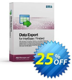 EMS Data Export for InterBase/Firebird (Business) + 1 Year Maintenance Coupon, discount Coupon code EMS Data Export for InterBase/Firebird (Business) + 1 Year Maintenance. Promotion: EMS Data Export for InterBase/Firebird (Business) + 1 Year Maintenance Exclusive offer for iVoicesoft