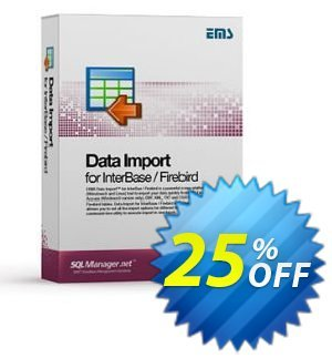 EMS Data Import for InterBase/Firebird (Business) + 2 Year Maintenance discount coupon Coupon code EMS Data Import for InterBase/Firebird (Business) + 2 Year Maintenance - EMS Data Import for InterBase/Firebird (Business) + 2 Year Maintenance Exclusive offer for iVoicesoft