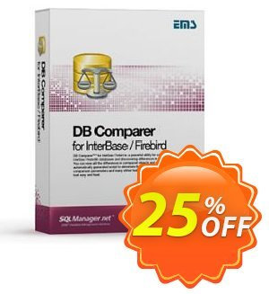 EMS DB Comparer for InterBase/Firebird (Business) + 1 Year Maintenance Coupon, discount Coupon code EMS DB Comparer for InterBase/Firebird (Business) + 1 Year Maintenance. Promotion: EMS DB Comparer for InterBase/Firebird (Business) + 1 Year Maintenance Exclusive offer for iVoicesoft