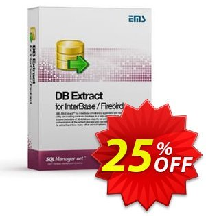 EMS DB Extract for InterBase/Firebird (Business) + 1 Year Maintenance Coupon, discount Coupon code EMS DB Extract for InterBase/Firebird (Business) + 1 Year Maintenance. Promotion: EMS DB Extract for InterBase/Firebird (Business) + 1 Year Maintenance Exclusive offer for iVoicesoft