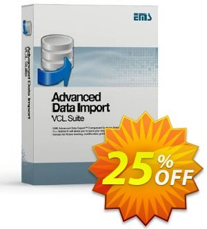 EMS Advanced Data Import VCL Suite (with sources) + 1 Year Maintenance Coupon, discount Coupon code Advanced Data Import VCL Suite (with sources) + 1 Year Maintenance. Promotion: Advanced Data Import VCL Suite (with sources) + 1 Year Maintenance Exclusive offer for iVoicesoft