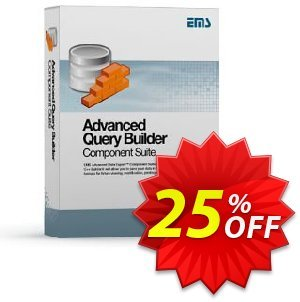 EMS Advanced Query Builder Component Suite (with sources) + 1 Year Maintenance Coupon, discount Coupon code Advanced Query Builder Component Suite (with sources) + 1 Year Maintenance. Promotion: Advanced Query Builder Component Suite (with sources) + 1 Year Maintenance Exclusive offer for iVoicesoft