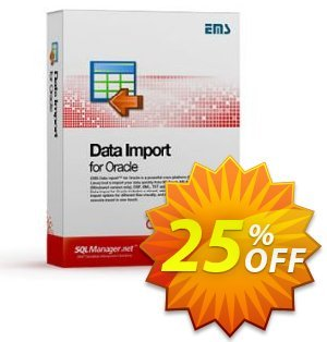 EMS Data Import for Oracle (Business) + 1 Year Maintenance Coupon, discount Coupon code EMS Data Import for Oracle (Business) + 1 Year Maintenance. Promotion: EMS Data Import for Oracle (Business) + 1 Year Maintenance Exclusive offer for iVoicesoft