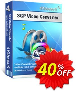 4Videosoft 3GP Video Converter Coupon, discount 4Videosoft 3GP Video Converter imposing offer code 2019. Promotion: imposing offer code of 4Videosoft 3GP Video Converter 2019