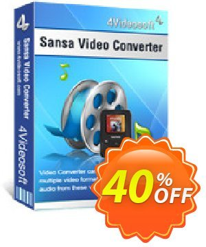 4Videosoft Sansa Video Converter Coupon, discount 4Videosoft Sansa Video Converter excellent offer code 2019. Promotion: excellent offer code of 4Videosoft Sansa Video Converter 2019