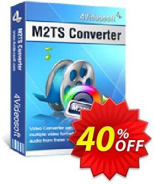 4Videosoft M2TS Converter Coupon, discount 4Videosoft M2TS Converter special deals code 2021. Promotion: special deals code of 4Videosoft M2TS Converter 2021