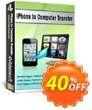 4Videosoft iPhone to Computer Transfer Coupon, discount 4Videosoft iPhone to Computer Transfer dreaded deals code 2019. Promotion: dreaded deals code of 4Videosoft iPhone to Computer Transfer 2019