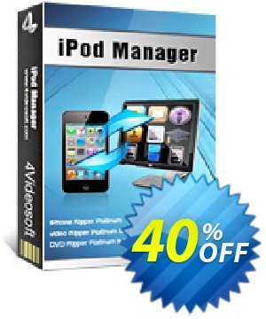 4Videosoft iPod Manager Coupon, discount 4Videosoft iPod Manager dreaded discounts code 2019. Promotion: dreaded discounts code of 4Videosoft iPod Manager 2019