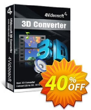 4Videosoft 3D Converter Coupon, discount 4Videosoft coupon (20911). Promotion: