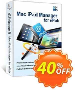 4Videosoft Mac iPad Manager for ePub Coupon, discount 4Videosoft Mac iPad Manager for ePub fearsome discounts code 2020. Promotion: fearsome discounts code of 4Videosoft Mac iPad Manager for ePub 2020
