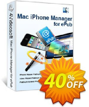 4Videosoft Mac iPhone Manager for ePub Coupon, discount 4Videosoft Mac iPhone Manager for ePub staggering offer code 2020. Promotion: staggering offer code of 4Videosoft Mac iPhone Manager for ePub 2020