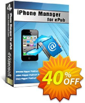 4Videosoft iPhone Manager for ePub Coupon discount 4Videosoft iPhone Manager for ePub stunning discount code 2020. Promotion: stunning discount code of 4Videosoft iPhone Manager for ePub 2020