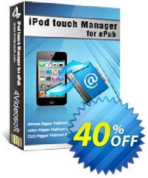 4Videosoft iPod touch Manager for ePub Coupon, discount 4Videosoft iPod touch Manager for ePub awesome promo code 2020. Promotion: awesome promo code of 4Videosoft iPod touch Manager for ePub 2020