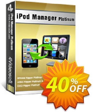 4Videosoft iPod Manager Platinum Coupon, discount 4Videosoft iPod Manager Platinum best offer code 2020. Promotion: best offer code of 4Videosoft iPod Manager Platinum 2020