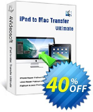 4Videosoft iPad to Mac Transfer Ultimate Coupon, discount 4Videosoft iPad to Mac Transfer Ultimate awful promo code 2019. Promotion: awful promo code of 4Videosoft iPad to Mac Transfer Ultimate 2019