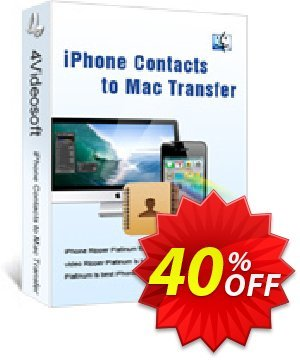 4Videosoft iPhone Contacts to Mac Transfer Coupon, discount 4Videosoft iPhone Contacts to Mac Transfer awful sales code 2020. Promotion: awful sales code of 4Videosoft iPhone Contacts to Mac Transfer 2020
