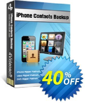 4Videosoft iPhone Contacts Backup Coupon, discount 4Videosoft iPhone Contacts Backup best discount code 2020. Promotion: best discount code of 4Videosoft iPhone Contacts Backup 2020