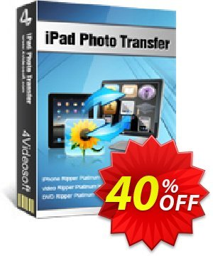 4Videosoft iPad Photo Transfer Coupon, discount 4Videosoft iPad Photo Transfer hottest discounts code 2020. Promotion: hottest discounts code of 4Videosoft iPad Photo Transfer 2020