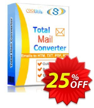 Coolutils Total Mail Converter (Commercial License) discount coupon 25% OFF Coolutils Total Mail Converter (Commercial License), verified - Dreaded discounts code of Coolutils Total Mail Converter (Commercial License), tested & approved