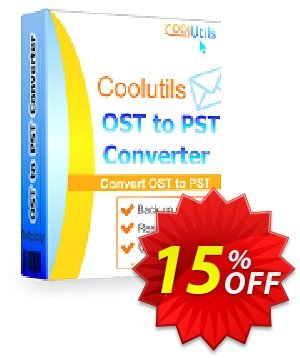 Get Coolutils OST to PST Converter 15% OFF coupon code