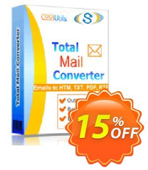 Coolutils Total Mail Converter (Server License) discount coupon 15% OFF Coolutils Total Mail Converter (Server License), verified - Dreaded discounts code of Coolutils Total Mail Converter (Server License), tested & approved