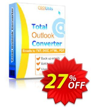Coolutils Total Outlook Converter (Commercial License) discount coupon 27% OFF Coolutils Total Outlook Converter (Commercial License), verified - Dreaded discounts code of Coolutils Total Outlook Converter (Commercial License), tested & approved
